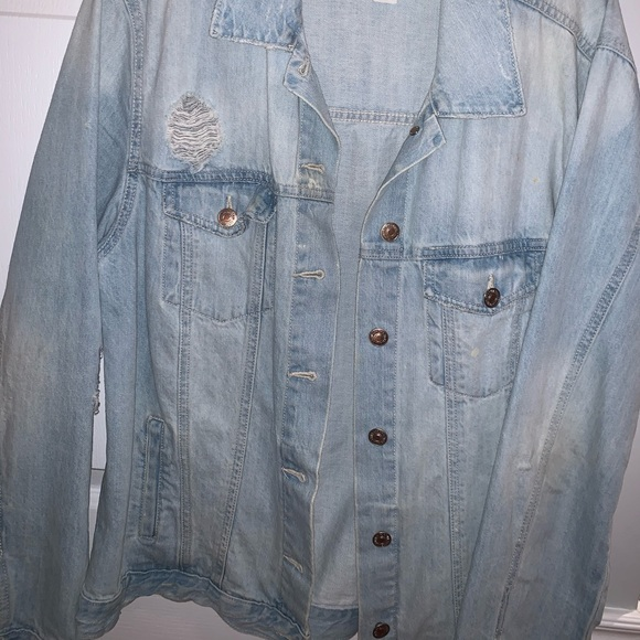 Oversized Forever 21 Denim Blue Jacket
